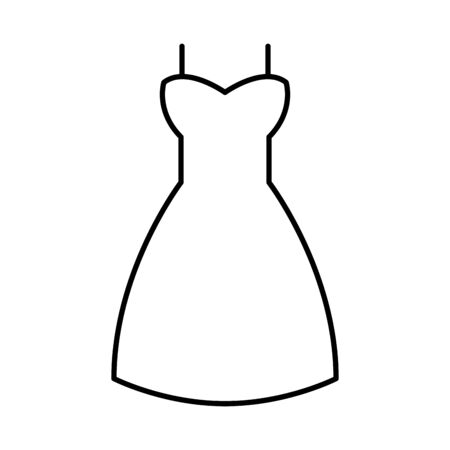 female dress clothes isolated icon vector illustration design 向量圖像