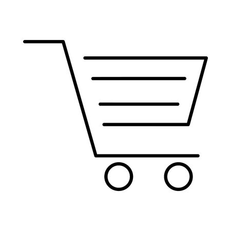 shopping cart commerce isolated icon vector illustration design 向量圖像