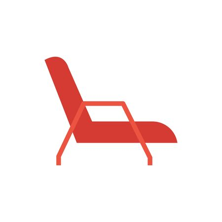wooden chair furniture isolated icon vector illustration design