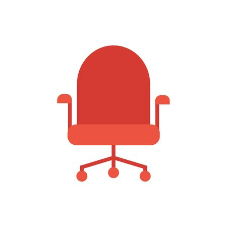 office chair furniture isolated icon vector illustration design Illustration