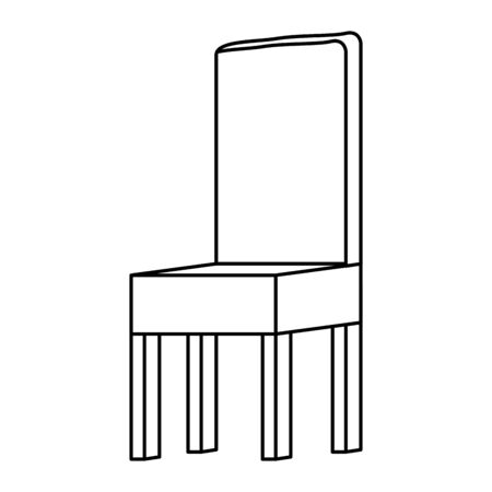 wooden chair forniture isolated icon vector illustration design Ilustracja