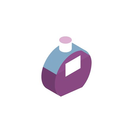 lotion bottle makeup product isolated icon vector illustration design