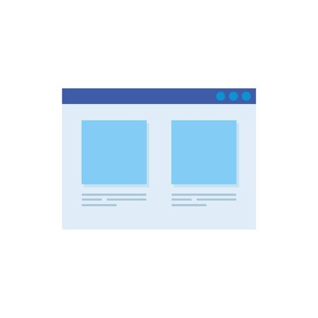 web page template isolated icon vector illustration design  イラスト・ベクター素材