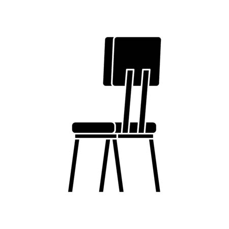 silhouette of wooden chair furniture isolated icon vector illustration design  イラスト・ベクター素材