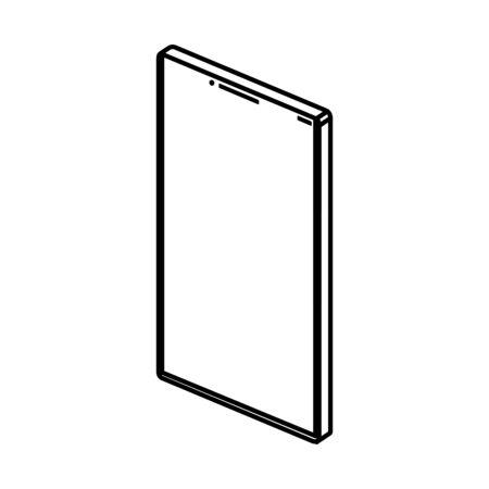 smartphone device technology line style icon vector illustration design Çizim