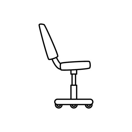 Office chair design, Workforce corporate job occupation professional and workplace theme Vector illustration