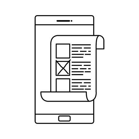 smartphone for vote online isolated icon vector illustration design Illusztráció