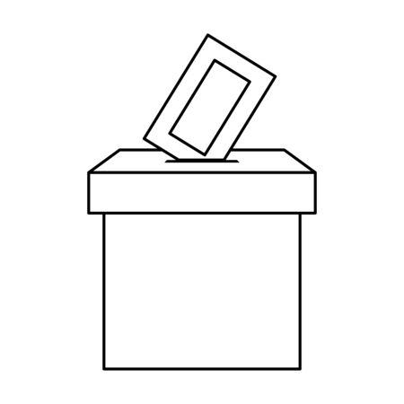Wahlurne Karton isoliert Symbol Vektor Illustration Design Vektorgrafik