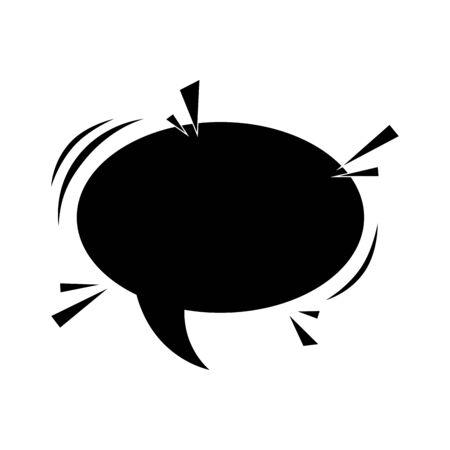 silhouette of speech bubble pop art style vector illustration design