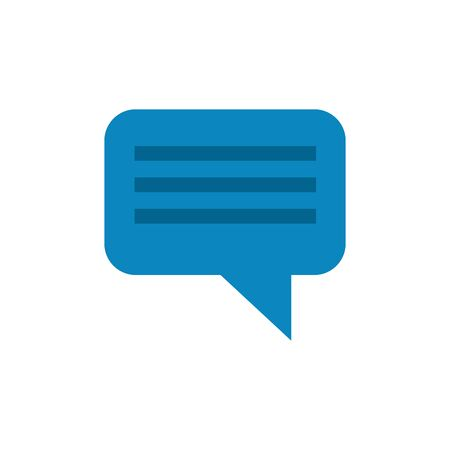 Communication bubble icon design, Message discussion conversation talk and technology Vector illustration