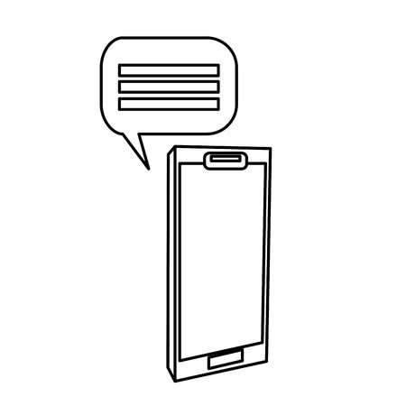smartphone device with speech bubble isolated icon vector illustration design Illusztráció
