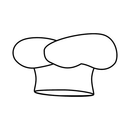 Hat chef accessoire ligne style icône vector illustration design