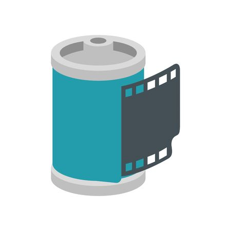 roll camera nineties retro isolated icon vector illustration design
