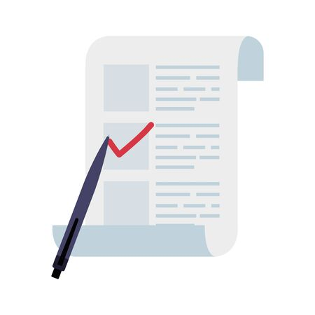 vote form with pen isolated icon vector illustration design Illustration