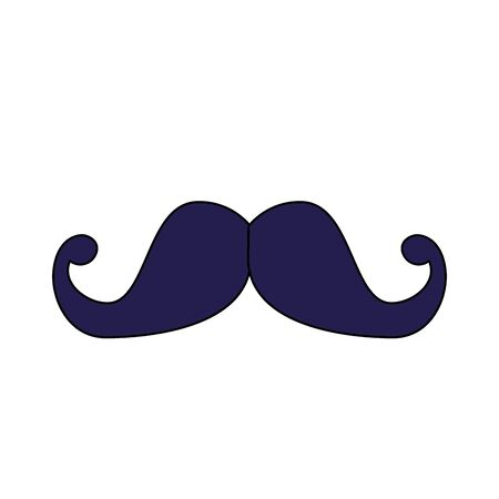 Male mustache design, Hair gentleman man style face retro facial beard and fashion theme Vector illustration