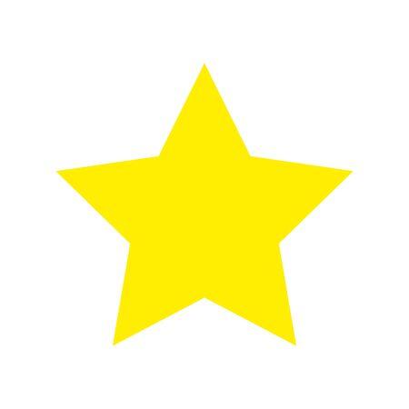 stella colore giallo icona isolato illustrazione vettoriale design Vettoriali