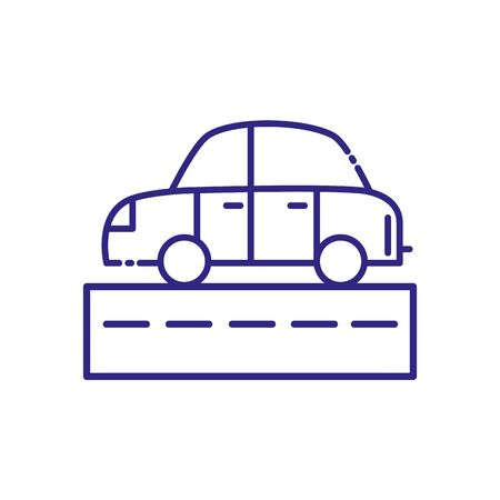 Car and street design, Transportation vehicle transport wheel speed traffic road and travel theme Vector illustration