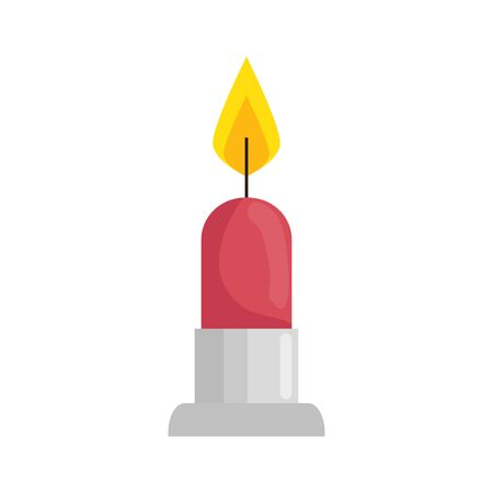 candle light decoration isolated icon vector illustration design Иллюстрация