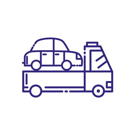 Car over truck design, Transportation vehicle transport wheel speed traffic road and travel theme Vector illustration  イラスト・ベクター素材