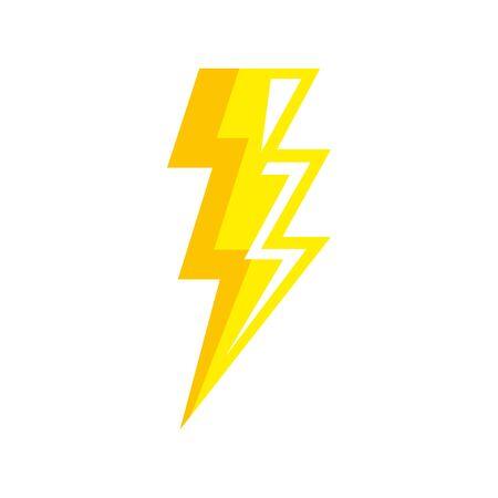thunderbolt pop art style icon vector illustration design