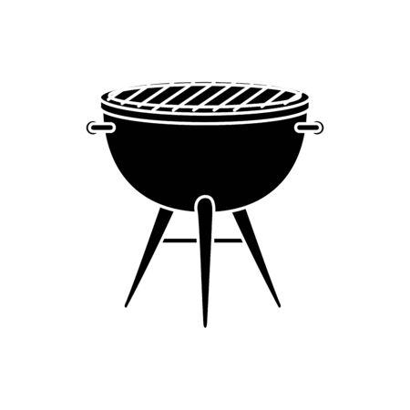 oven barbecue equipment isolated icon vector illustration design