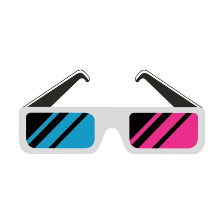 glasses accessory nineties retro style vector illustration design 向量圖像