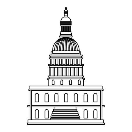 Conception de la capitale des États-Unis, journée des présidents de l'indépendance des États-Unis d'Amérique, pays des États-Unis et thème national Illustration vectorielle