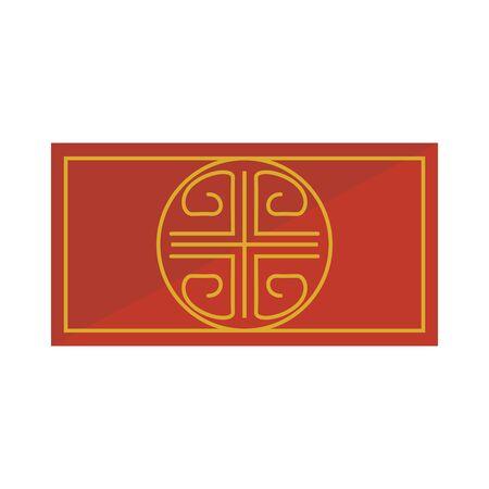 La figure ethnique d'or conception d'illustration vectorielle icône isolé
