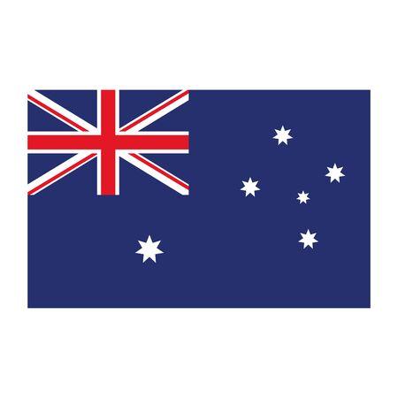 flag australia emblem isolated icon vector illustration design