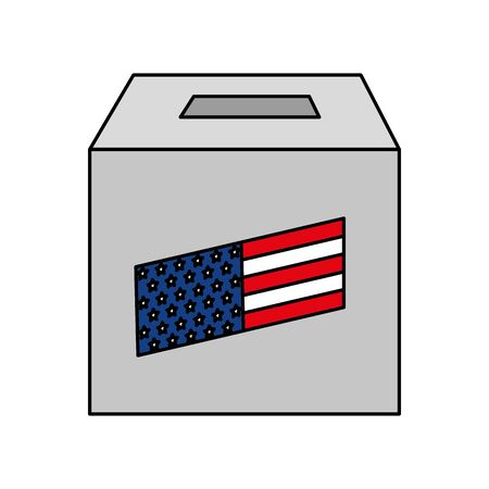 Usa vote box design, United states america independence presidents day nation us country and national theme Vector illustration  イラスト・ベクター素材