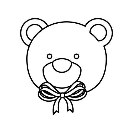 face of cute teddy bear isolated icon vector illustration design Vektorové ilustrace