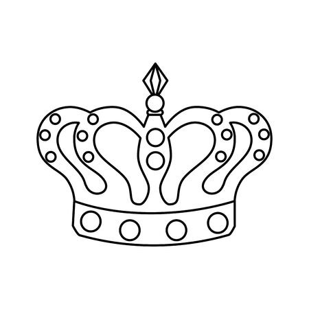 Crown design, Royal king queen luxury jewelry kingdom insignia emperor authority and coronation theme Vector illustration Ilustração