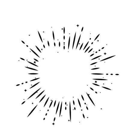 sunburst decoration line style icon vector illustration design