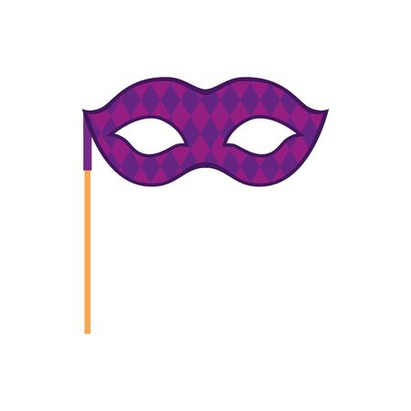 Mardi gras mask design, Party carnival decoration celebration festival holiday fun new orleans and traditional theme Vector illustration