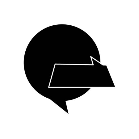 silhouette of speech bubbles isolated icon vector illustration design