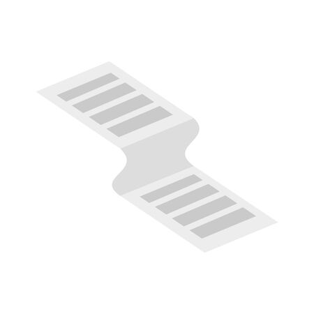 receipt paper voucher isolated icon vector illustration design