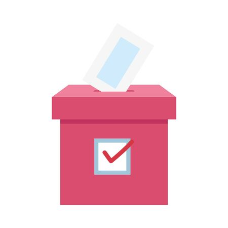 ballot box carton isolated icon vector illustration design  イラスト・ベクター素材