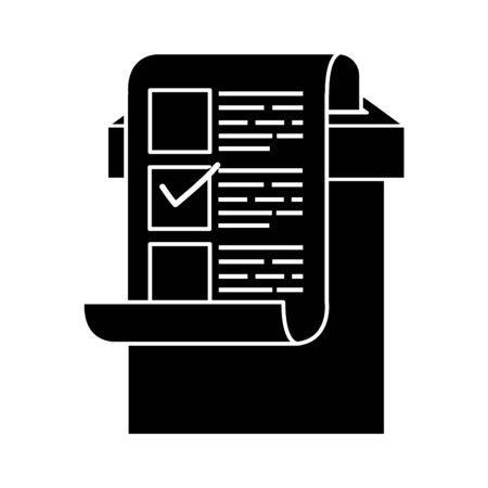 sylwetka urny wyborczej i formularza głosowania z projektem ilustracji wektorowych kandydatów