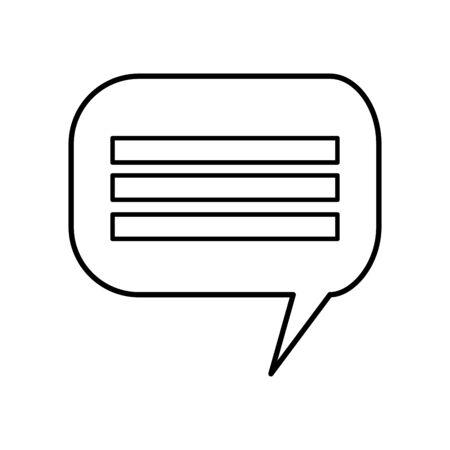 speech bubble communication isolated icon vector illustration design