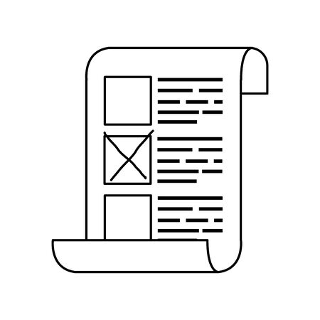 Abstimmungsformular mit Kandidaten isoliert Symbol Vektor Illustration Design Vektorgrafik