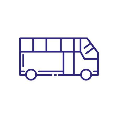 Bus vehicle design, Transportation travel trip urban motor speed fast automotive and driving theme Vector illustration  イラスト・ベクター素材