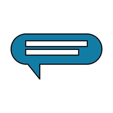 speech bubble communication isolated icon vector illustration design  イラスト・ベクター素材