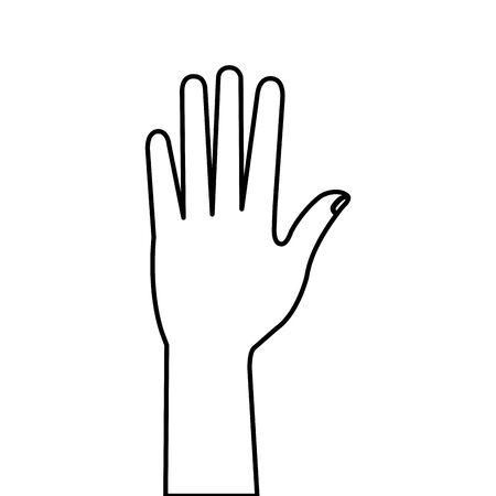 hand person human line style icon vector illustration design