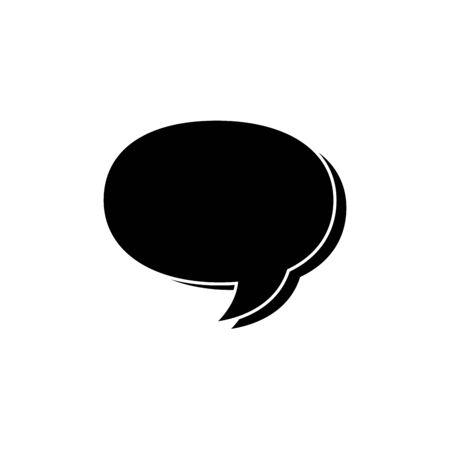 silhouette of speech bubble isolated icon vector illustration design