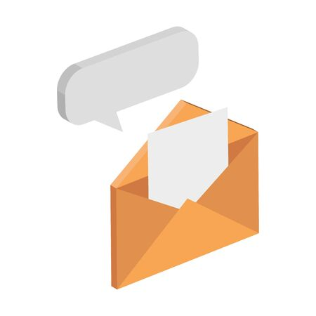 envelope mail with speech bubble isolated icon vector illustration design 일러스트