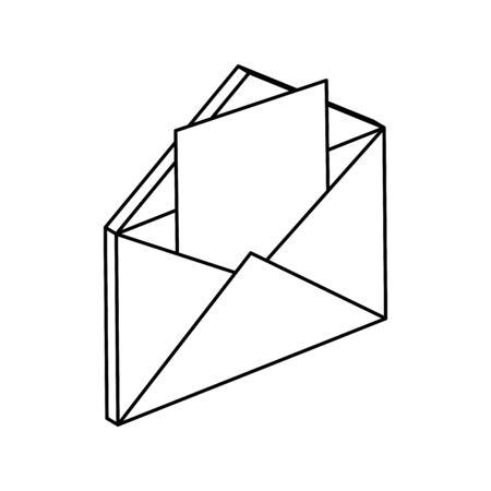 envelope mail communication isolated icon vector illustration design