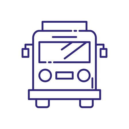 Bus vehicle design, Transportation travel trip urban motor speed fast automotive and driving theme Vector illustration 向量圖像