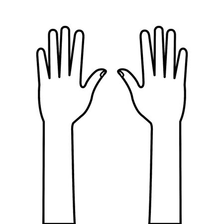 hands person human line style icon vector illustration design Çizim