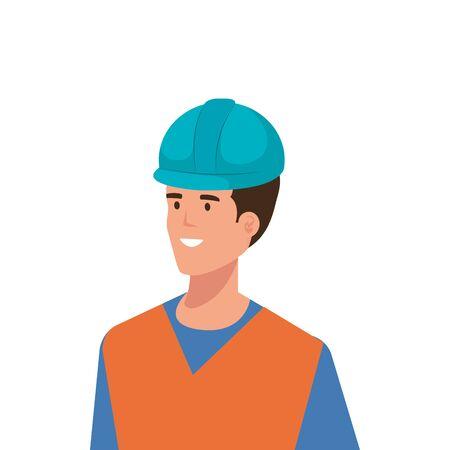Builder man design, Construction work repair reconstruction industry build and project theme Vector illustration Ilustração