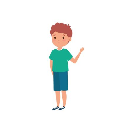 cute little boy avatar character vector illustration design 向量圖像
